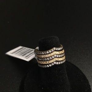 NWT - Freida Rothman Deco King of Hearts Ring SZ 5